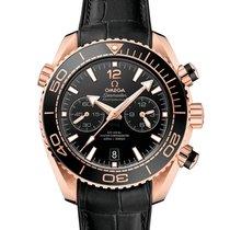 Omega Or rose Remontage automatique Noir 45.5mm nouveau Seamaster Planet Ocean Chronograph