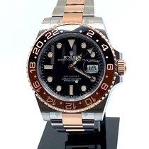 Rolex GMT-Master II Gold/Steel 40mm Black No numerals