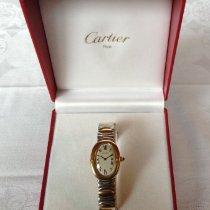 Cartier Baignoire Gelbgold 30mm Champagnerfarben Römisch