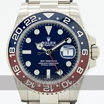 Rolex White gold Automatic Blue 40mm pre-owned GMT-Master II