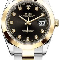 Rolex Datejust 41mm Steel and Yellow Gold 126303 Black Diamond...