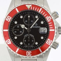 Grovana Automatic Diver Chronograph RED NEW 2 Years Warranty...