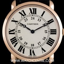 Cartier 18k Rose Gold Silver Dial Ronde Louis Gents Watch...