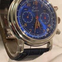 Waldan International 39.5mm Automatisch 1980 tweedehands Blauw