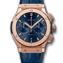Hublot Classic Fusion Blue Chronograph King Gold 521.OX.7180.LR