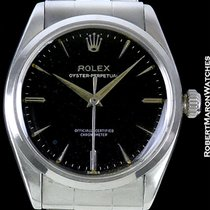 Rolex Oyster Perpetual Black Gloss Dial Steel