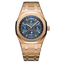 Audemars Piguet Royal Oak Perpetual Calendar Rose Gold Blue...