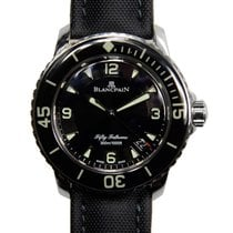 Blancpain Fifty Fathoms Stainless Steel Black Automatic...