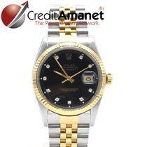 Rolex Datejust Gold Steel Diamonds