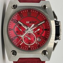 Wyler Geneve Code-r Incaflex Chronograph Stainless Steel Red...