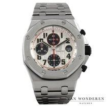 Audemars Piguet Royal Oak Offshore Chronograph tweedehands 42mm Wit Chronograaf Staal