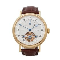 Breguet Yellow gold Automatic Silver Roman numerals 40mm pre-owned Classique Complications