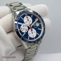 TAG Heuer Carrera Calibre 16 pre-owned 41mm Blue Chronograph Date Steel