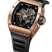 Richard Mille RM 035 Roségold 48mm Transparent Keine Ziffern