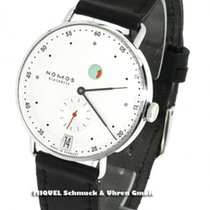 NOMOS Metro pre-owned 37mm Silver Date Leather