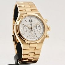 Vacheron Constantin Overseas Chronograph Aur roz 42mm De culoarea şampaniei Fara cifre