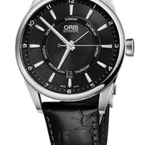 Oris Artix Pointer Day, Date, Black Dial, Leather Bracelet