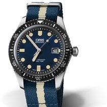 Oris Divers Sixty Five 01 733 7720 4055-07 5 21 29FC Oris SIXTY-FIVE Blu Bianco new