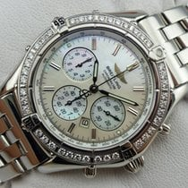 Breitling Shadow Flyback Chronograph - A35312 - Diamond bezel