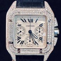 Cartier Santos 100 XL Chronograph Steel Diamonds