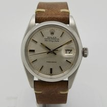 Rolex Air King Date Steel 34mm Silver No numerals