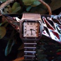 Cartier 29mm Quartz pre-owned Santos Galbée White