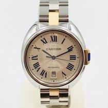 Cartier Clé de Cartier Acero y oro 40mm Plata Romanos