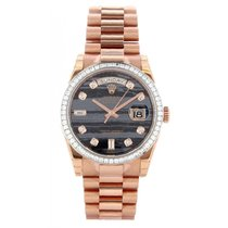 Rolex Day-Date 36 36 118395BR État neuf Or rose 36mm Remontage automatique