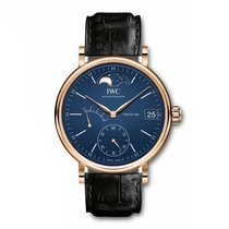 IWC Red gold Manual winding Blue new Portofino Hand-Wound