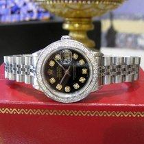 Rolex Lady-Datejust Staal 26mm Zwart