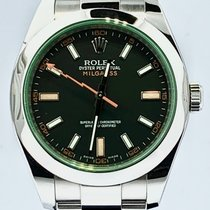 Rolex Milgauss Acier 40mm Vert Sans chiffres