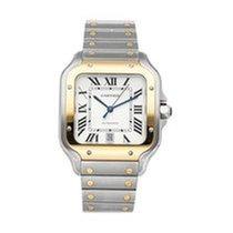 Cartier Santos (submodel) neu 2018 Automatik Uhr mit Original-Box und Original-Papieren W2SA0006