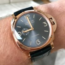 Panerai Luminor Due Oro rosado 45mm Gris Árabes