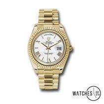 Rolex Day-Date 40 Oro amarillo 40mm Blanco Romanos