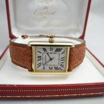 Cartier Tank Louis Cartier Gelbgold 33mm Champagnerfarben Römisch Deutschland, Essen