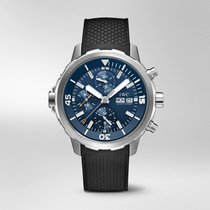 IWC Aquatimer Chronograph Stål 44mm Blå Ingen tall