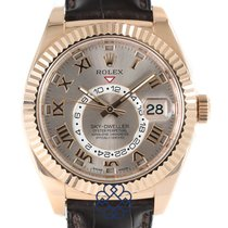 Rolex Silver Automatic pre-owned Sky-Dweller