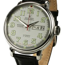 Poljot Moscow Nights Steel 43mm Grey Arabic numerals