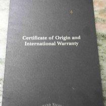 Armand Nicolet certificate of origin e international warranty