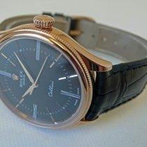 Rolex Cellini Time Rose gold 39mm Black Roman numerals