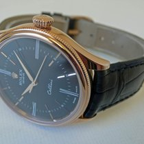 Rolex Cellini Time Roségoud 39mm Zwart Romeins
