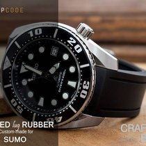Crafter Blue Watch Band for Seiko Sumo, Black