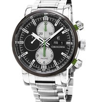 Chronoswiss CH-7585.1B-BK Pacific Chronograph 43mm in Steel -...