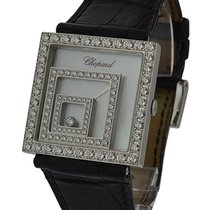 Chopard 20/7196-20-5 Happy Spirit Square in White Gold with...