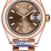 Rolex Lady-Datejust Rose gold 28mm Brown