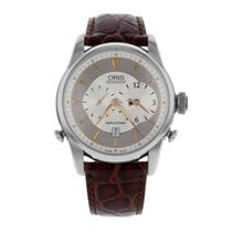 Oris Artelier Worldtimer Steel 43mm Silver No numerals United States of America, New York, New York