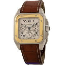 Cartier Santos 100 Steel 38mm Silver Roman numerals United States of America, California, Newport Beach