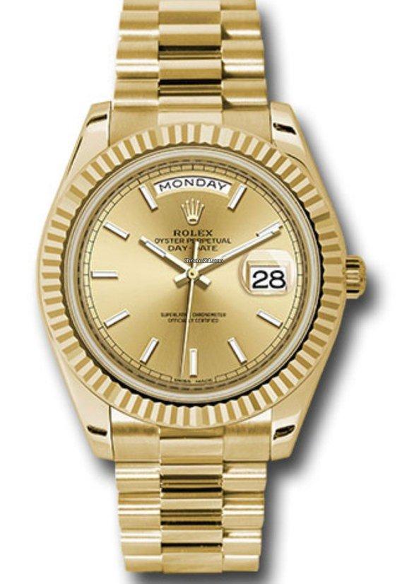 Rolex 228238 Day,Date 40 Watch,Champ Stick Dial