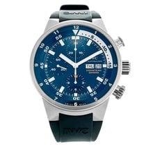 IWC Aquatimer Chronograph Acier Bleu