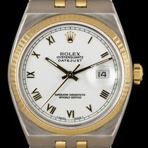 Rolex Datejust Oysterquartz Or/Acier 36mm Blanc Romain